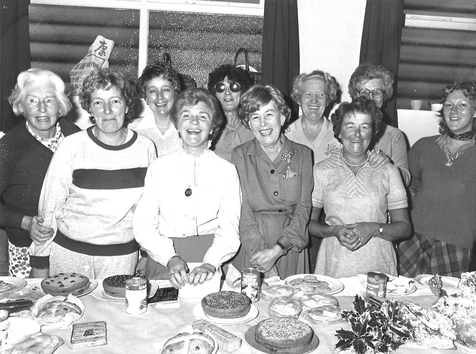 Guests enjoy a St John's Crossens coffee morning on 12 November 1983
