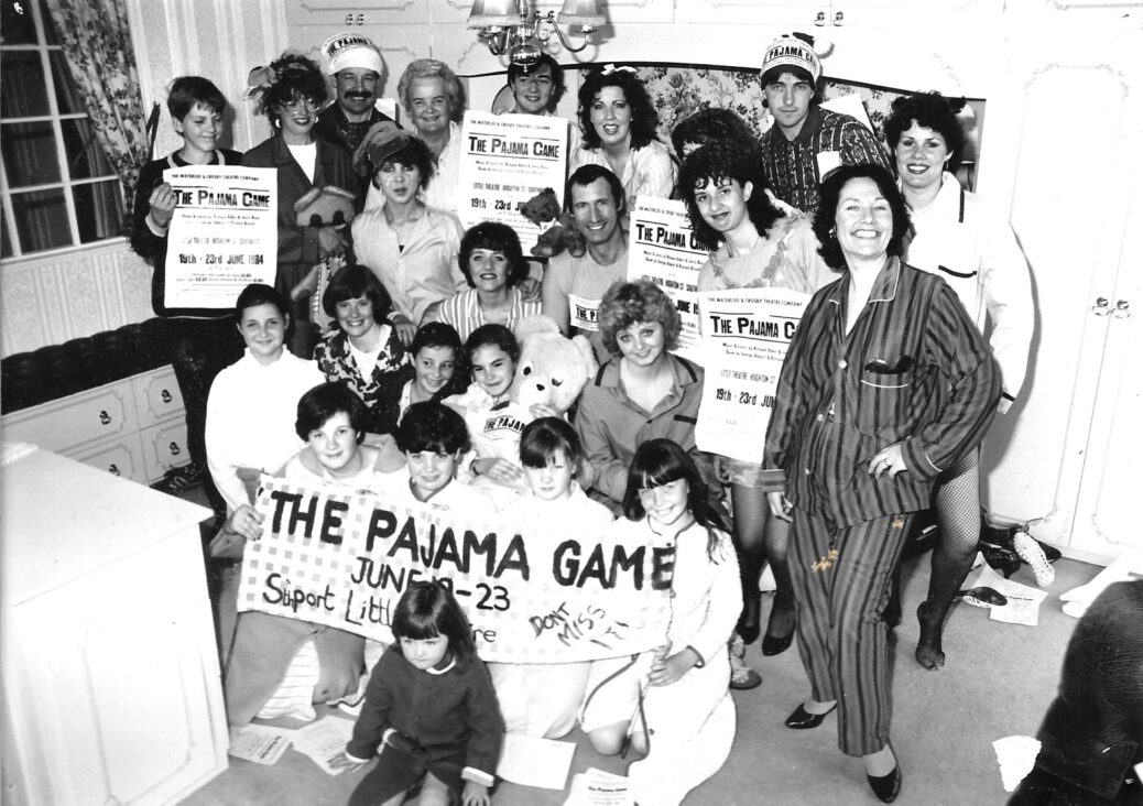 The Waterloo & Crosby Theatre Company performed The Pajama Game at the Little Theatre in Southport 19-23 June 1984
