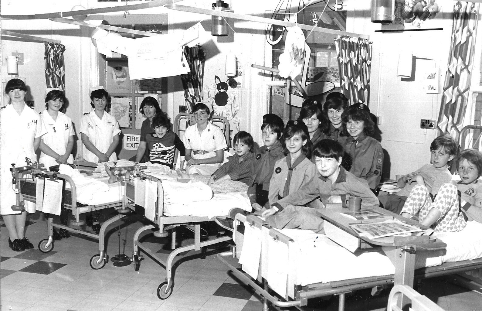 Girl Guides enjoyed a visit to Southport Infirmary on 20 April 1984