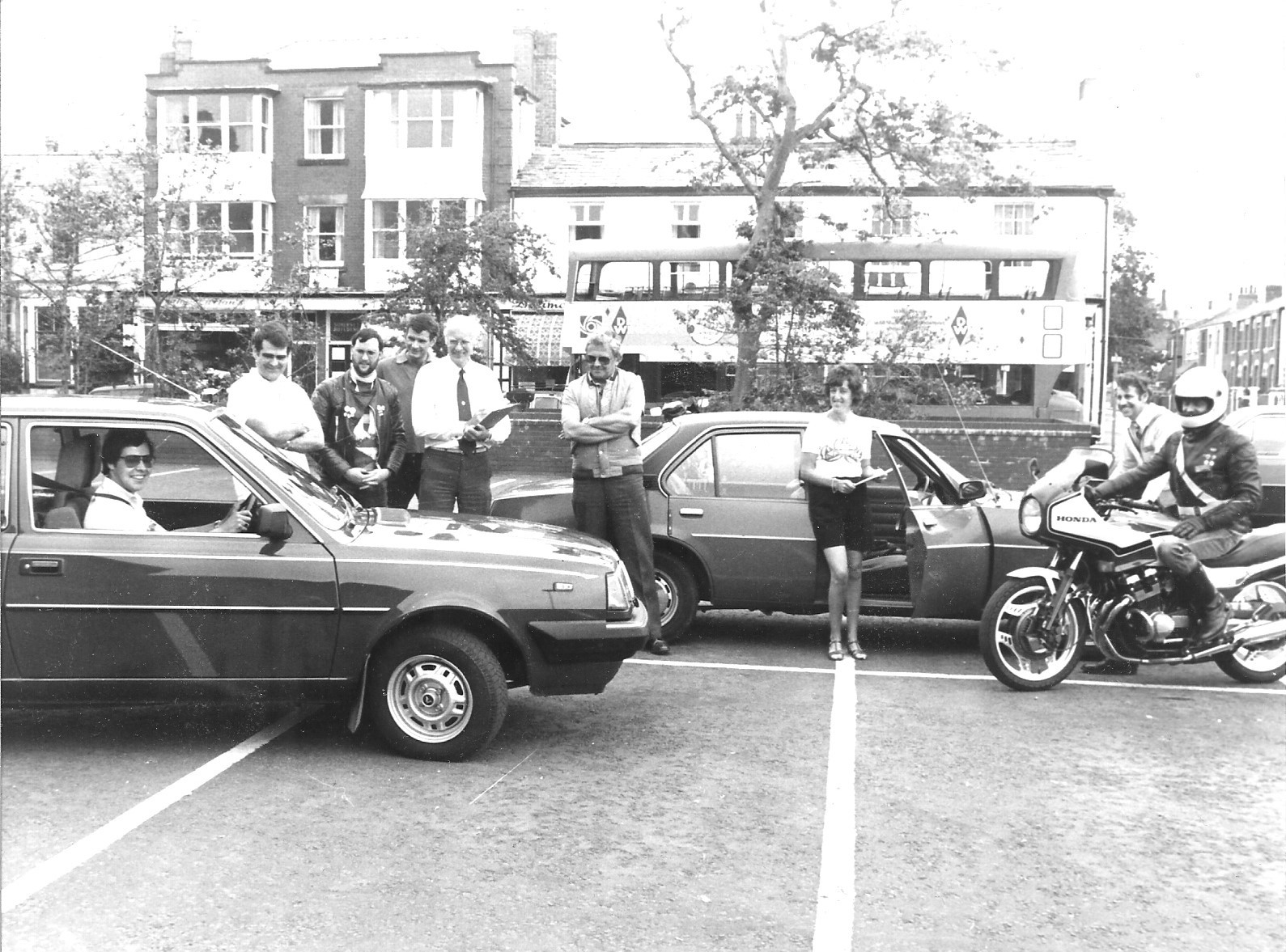 Members of the Sefton branch of Advanced Motorists meet in Southport on 10 June 1984
