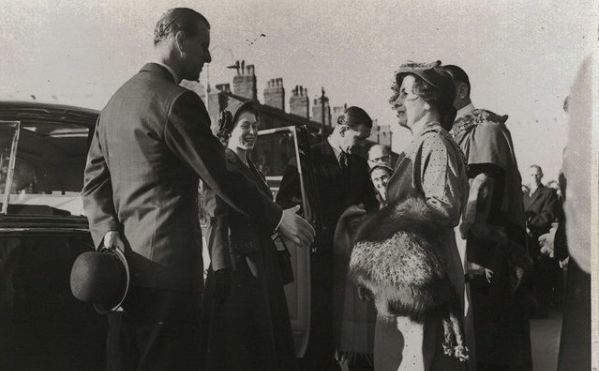Prince Philip and Queen Elizabeth II during a visit to Crosby and Bootle in 1954. Photo courtesy of Sefton Council