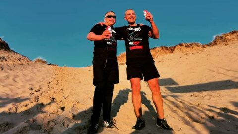 Fundraisers climb Southport sand dune 500 times to help children at Claire House hospice
