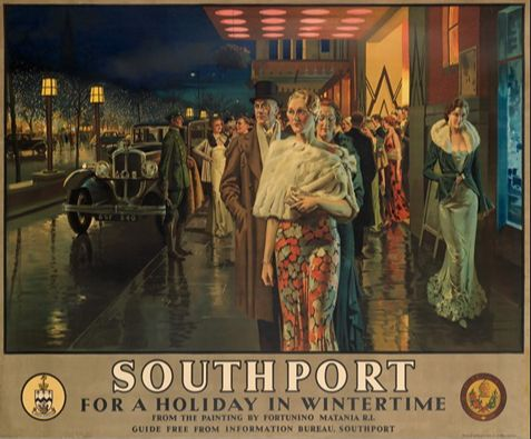 Southport In Wintertime by Fortunino Matania