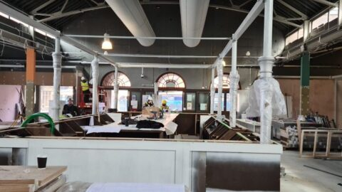 New Southport Market feature bar takes shape as pictures reveal progress