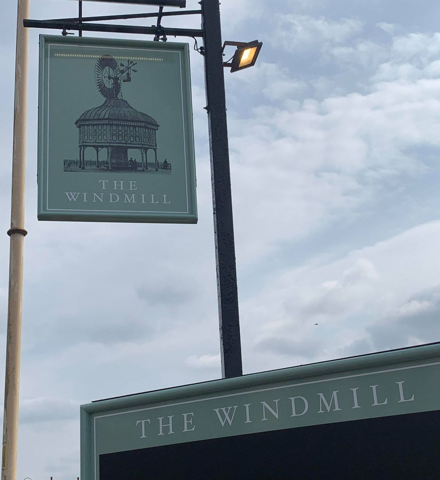 The new sign at The Windmill pub in Southport