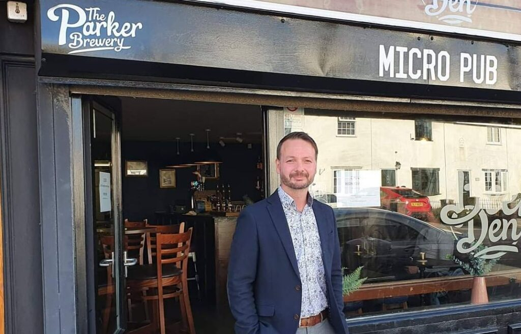 Parkers Brewery owner Richard Parker, owner of The Beer Den on Rufford Road in Crossens in Southport