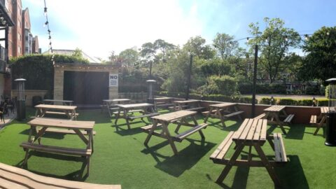 Carlton bar in Southport unveils its brand new beer garden