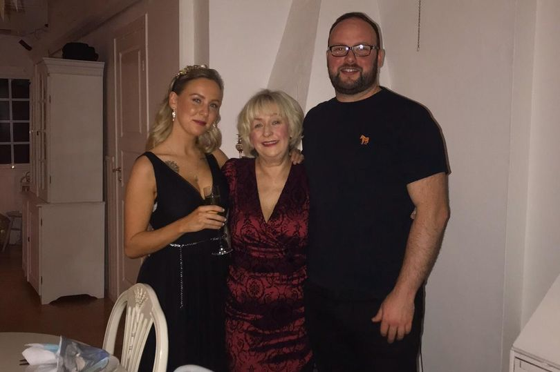Cassie James from Southport with her son and daughter, Stacey and Jonathan Wright