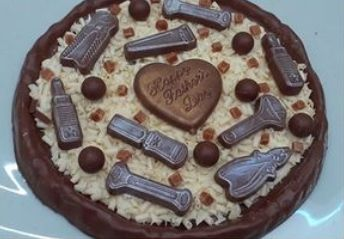 A DIY chocolate pizza at Chocolate Whirled in Southport