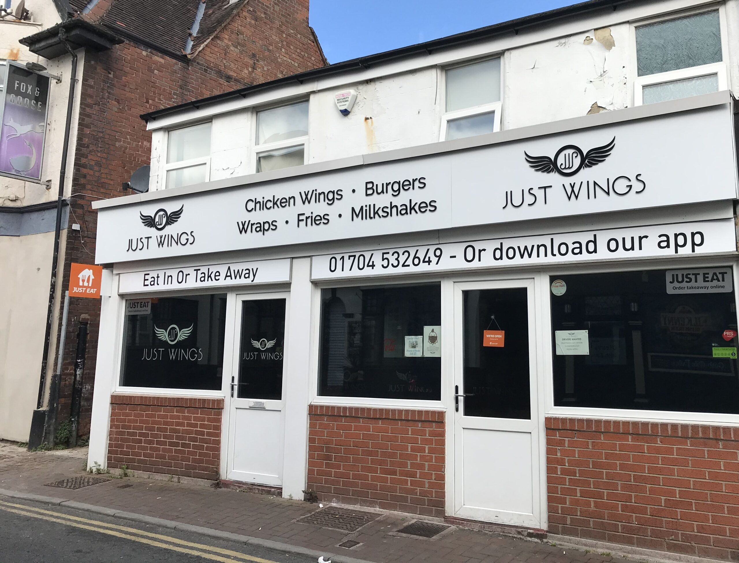 Just Wings on Cable Street in Southport. Photo by Andrew Brown Media