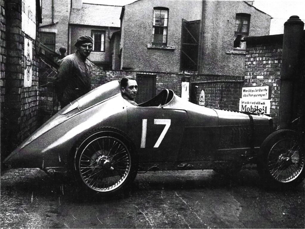 The MG J3 in Southport in 1938. Does anyone recognise where this could be in Southport? Photo by Nev Churcher