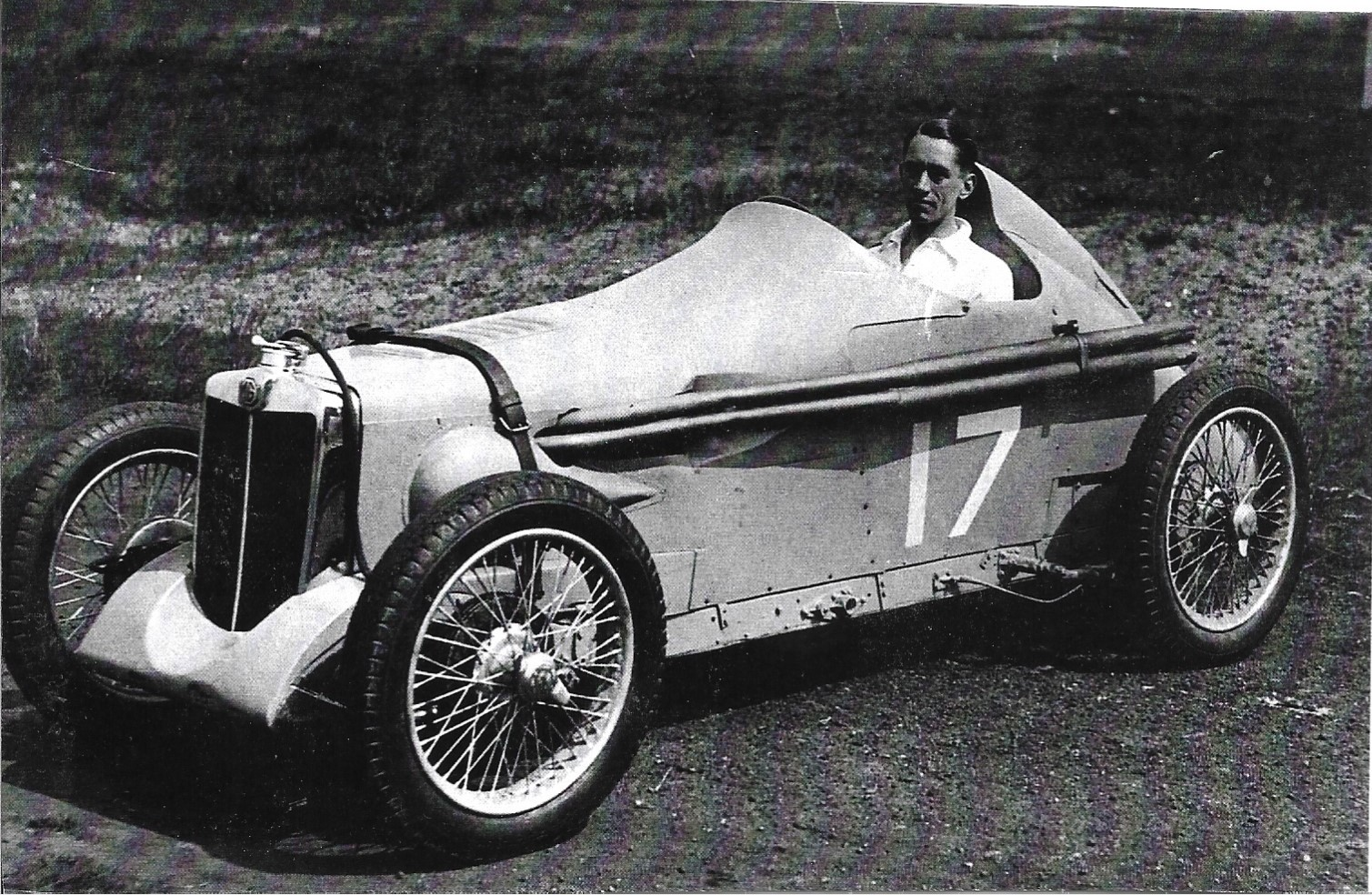 The MG J3 on 5th may 1938 with Mr Highley on board. Photo by Nev Churcher