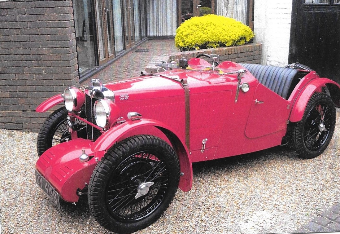 The MG J3 supercharged Midget as it is now, standing after four years of restoration work by Nev Churcher