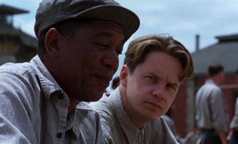 Morgan Freeman (left) and Tim Robbins (right) star in The Shawshank Redemption