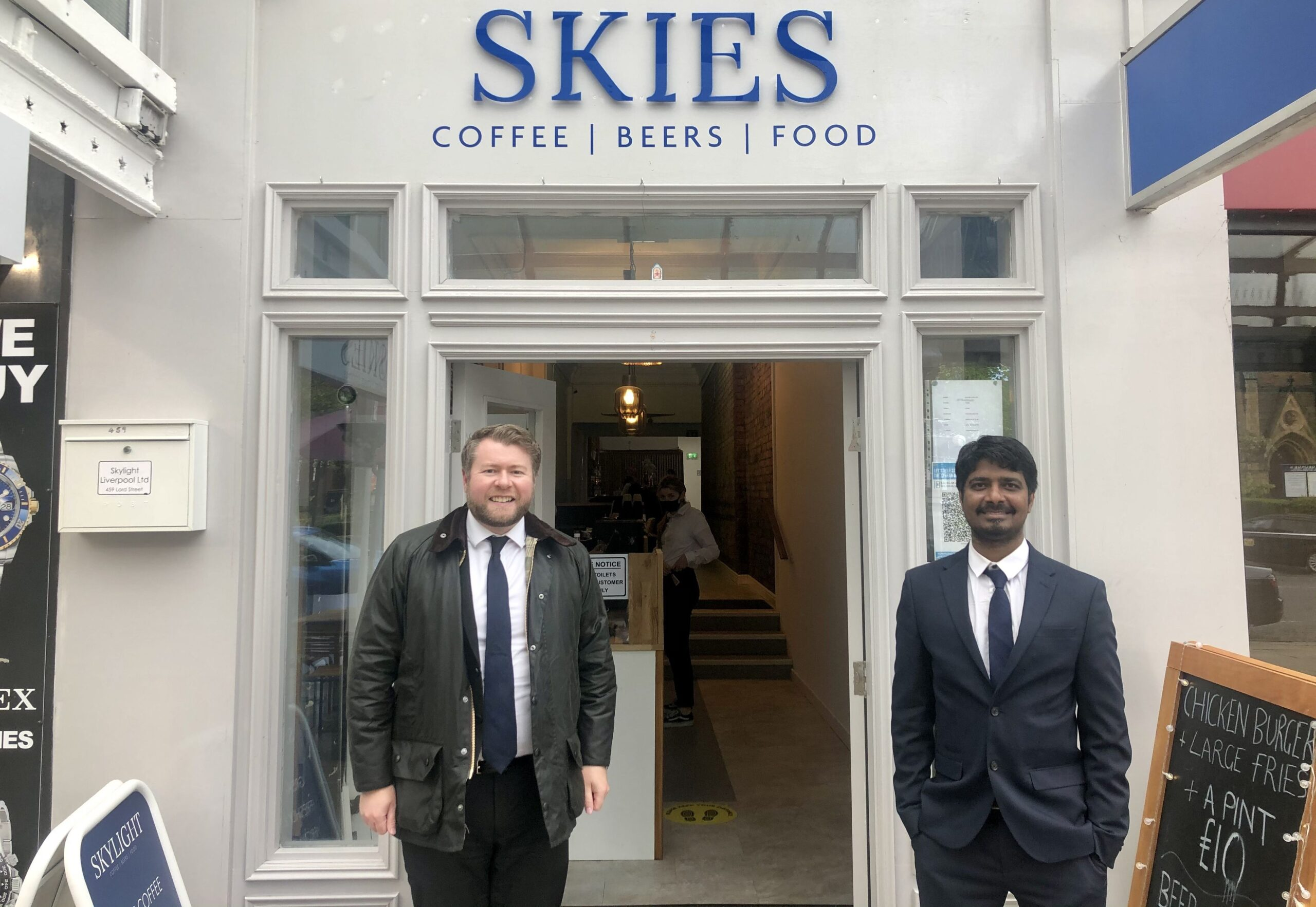 Southport MP Damien Moore was invited to officially open the new outside area at Skies on Lord Street in Southport. Photo by VAMPHire.comSouthport MP Damien Moore was invited to officially open the new outside area at Skies on Lord Street in Southport. Photo by VAMPHire.com