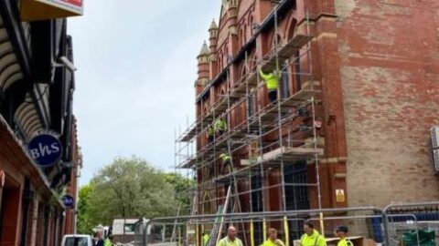 Building work in progress at new Techedia HQ in Southport creating 75 new jobs