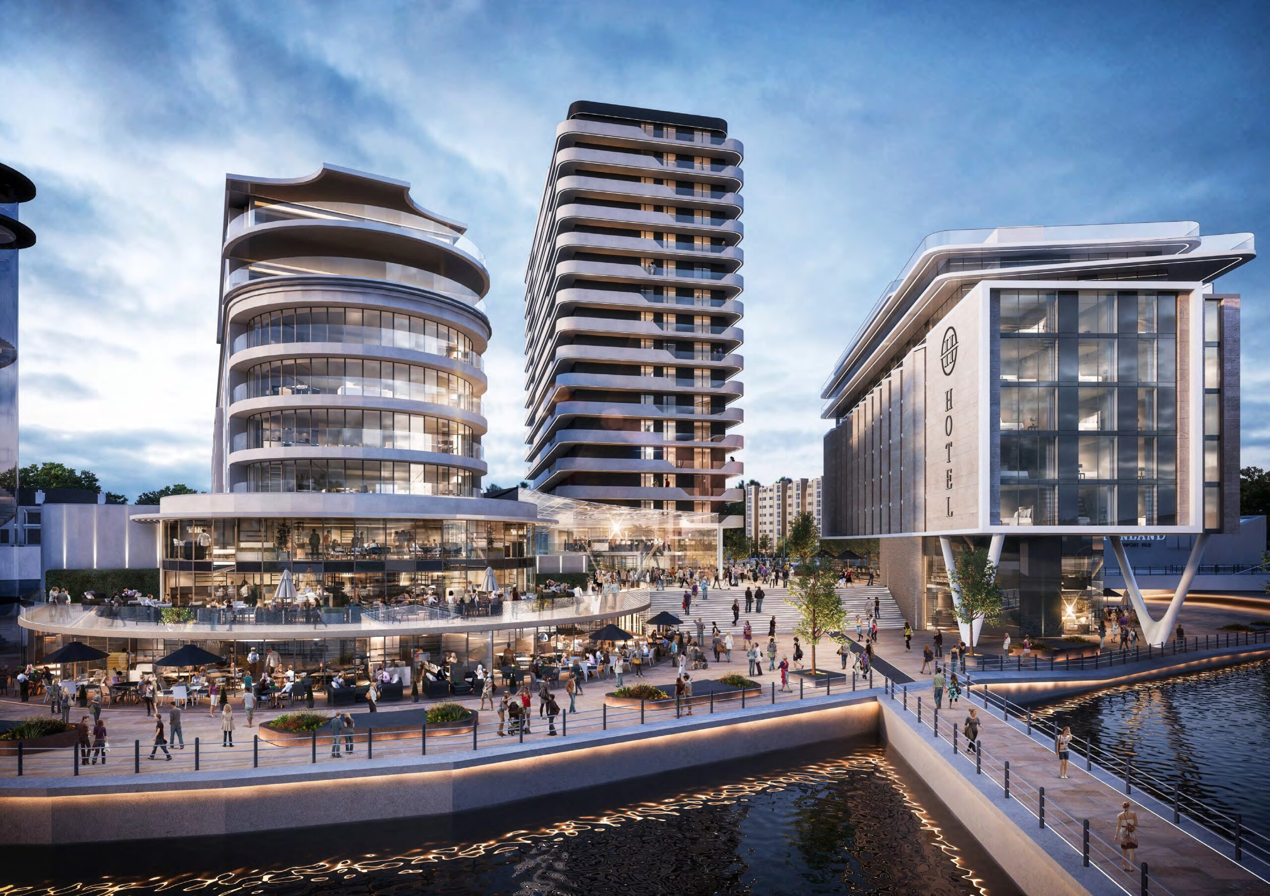 An artist's impression of how the Waterfront area of Southport could look