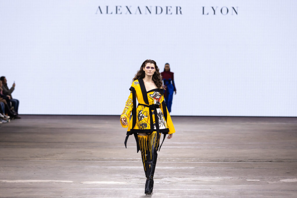 Alexander Lyon from Birkdale unveiled his inaugural collection at Afterpay Australian Fashion Week in Sydney