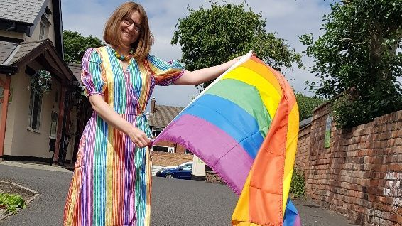 Birkdale Park Nursing Home in Southport celebrated Pride in colourful style. Pictured is Helen Jones the Activities and Wellbeing Co-ordinator