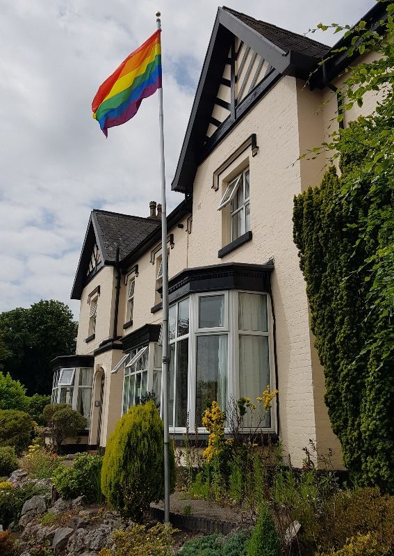 Birkdale Park Nursing Home in Southport celebrated Pride in colourful style