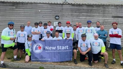 Cyclist celebrates heart transplant anniversary by riding from Southport to Hornsea for heart charity
