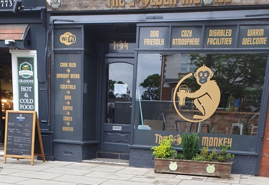 The Golden Monkey bar on Station Road in Ainsdale in Southport. Photo by Brenda Porter