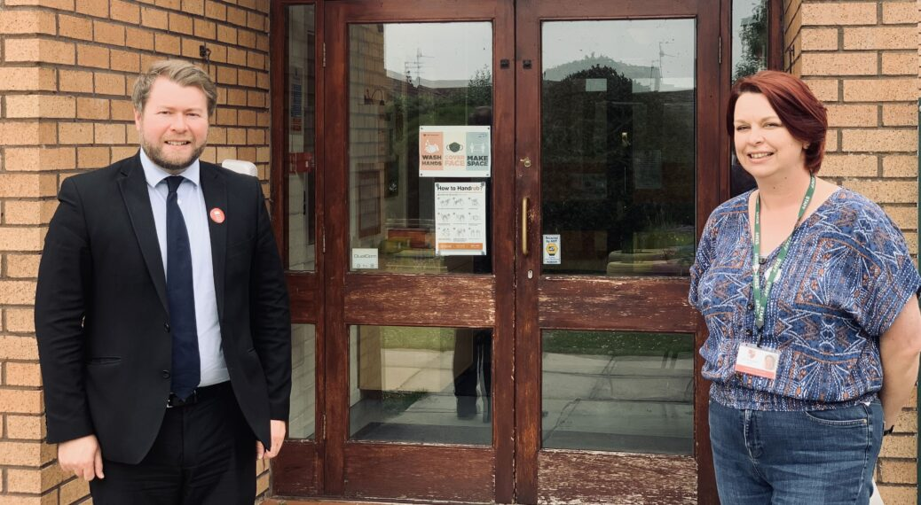 Damien Moore MP with Marshside Primary School head teacher Mrs Natasha Sandland