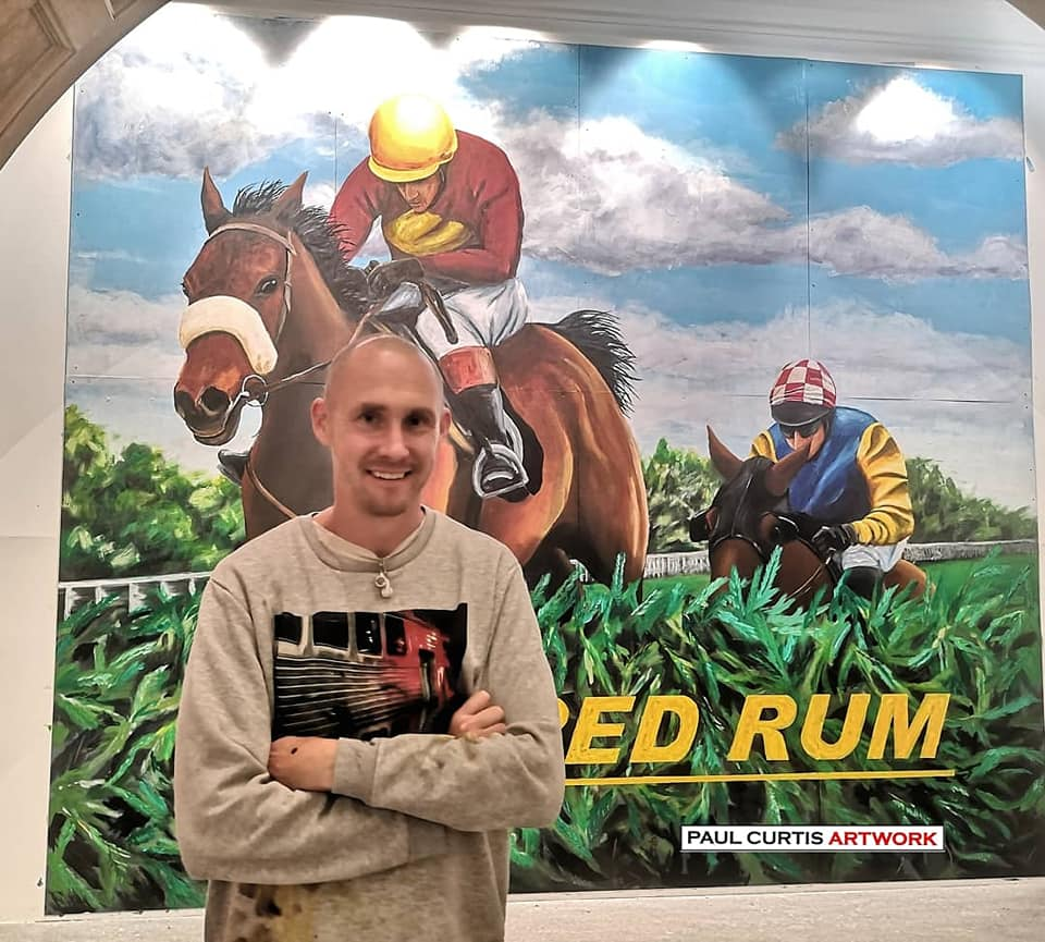 Artist Paul Curtis has created a Red Rum mural for a new exhibtion at The Atkinson in Southport. Photo by Paul Curtis Artwork