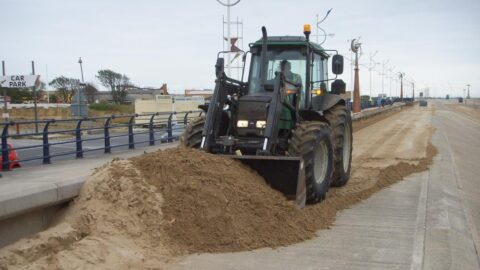 90 tonnes of sand cleared from Southport coastal path by Sefton Council