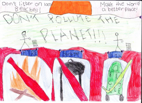 These six posters by Southport primary school children urge visitors not to litter our beaches this summer