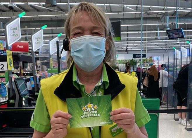Noreen, a much-loved worker at the Asda supermarket in Southport, has enjoyed national recognition for her friendly manner and helpfulness