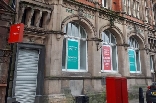 The former Crown Post Office in Southport town centre
