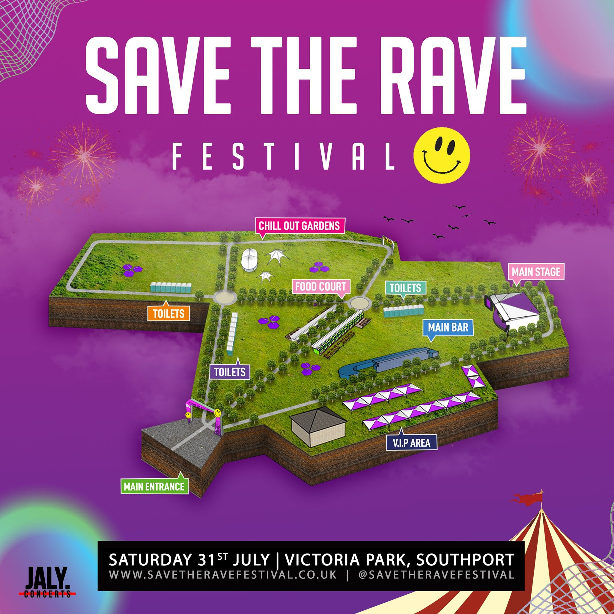 The Save The Rave Festival at Victoria Park in Southport