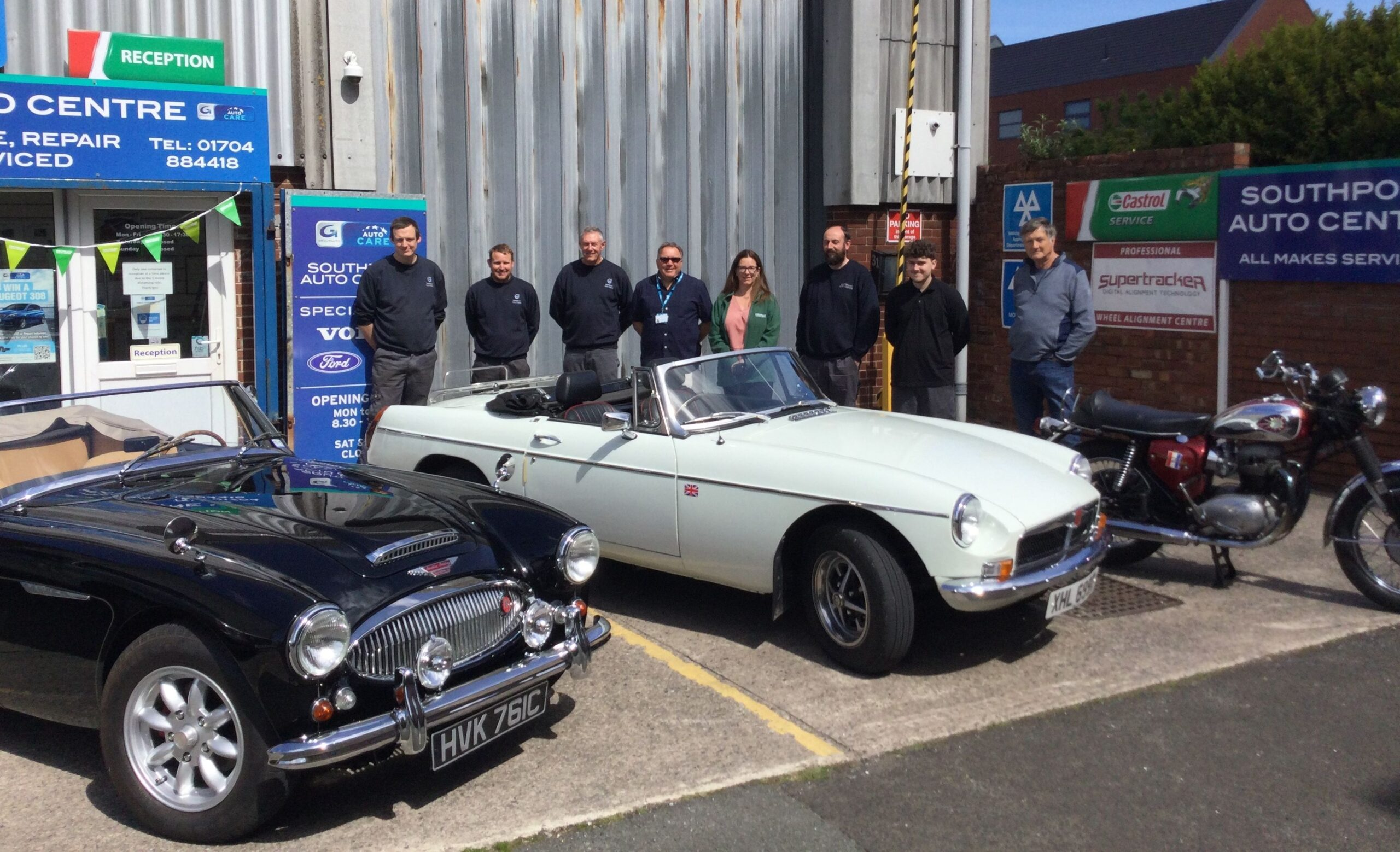 Southport Auto Centre is staging a classic car and motorcycle display to raise funds for Macmillan Cancer Support and the Southport Cancer Information and Support Centre