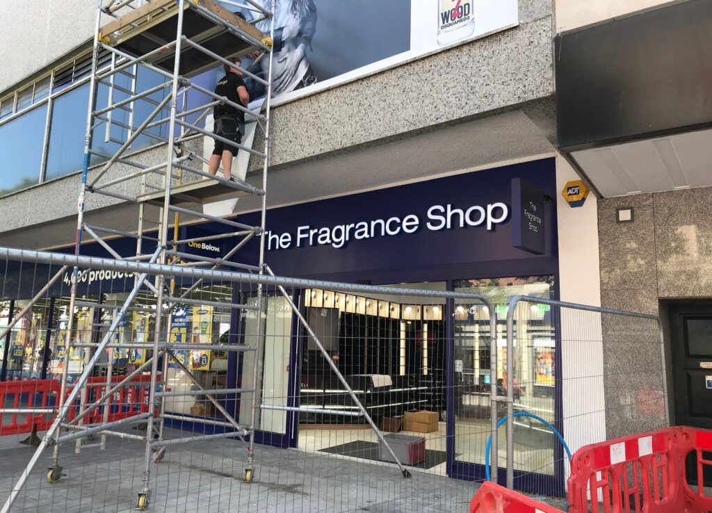 Work continues on The Fragrance Shop on Chapel Street in Southport town centre ahead of its opening. Photo by Andrew Brown Media