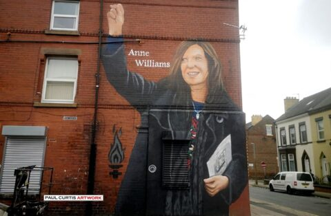 New mural pays moving tribute to tireless Hillsborough campaigner and Formby mum Anne Williams