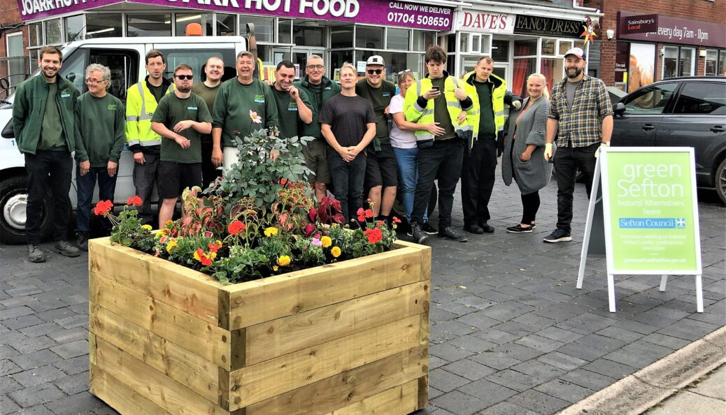 Plans for bringing more of a village-like feel to the Bispham Road area in Southport have taken a significant step forward with the first of a series of planters being installed