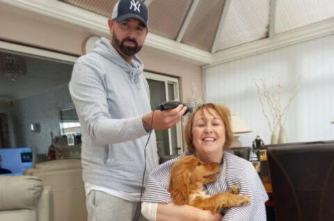 Southport mum braves the shave to raise £1,600 for Queenscourt Hospice