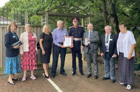 Queenscourt Hospice volunteers awarded Queens Award for Voluntary Service