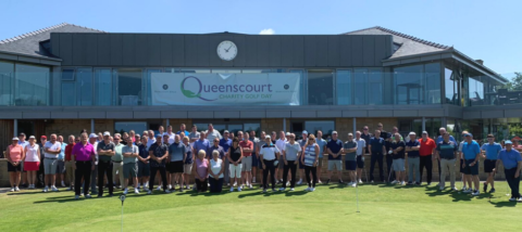 Golfers raise £7,500 for Queenscourt Hospice through charity event at Hurlston Hall Golf Club