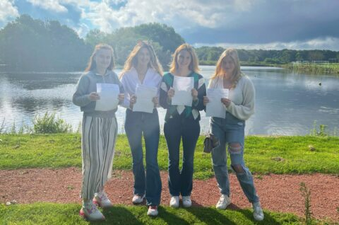 Scarisbrick Hall School pupils celebrate over 70% achieving A*/A grades with a 100% pass rate