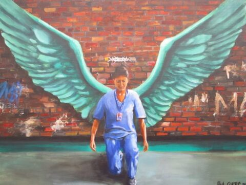 Moving painting honouring our NHS Covid heroes goes on display in Southport