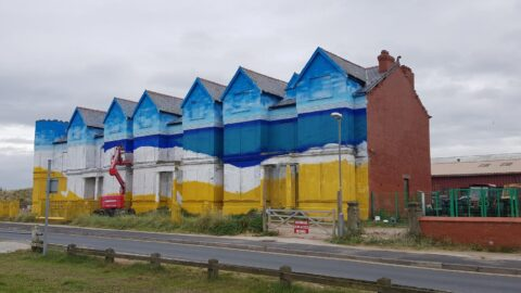 Huge mural at Toad Hall in Ainsdale is taking shape as inquisitive visitors watch artist at work