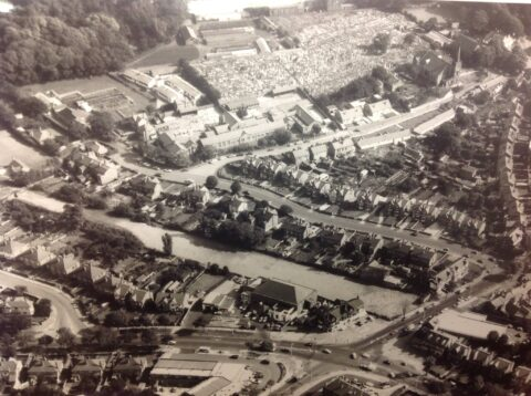 Historic aerial photo shows Churchtown in Southport in the 1960s