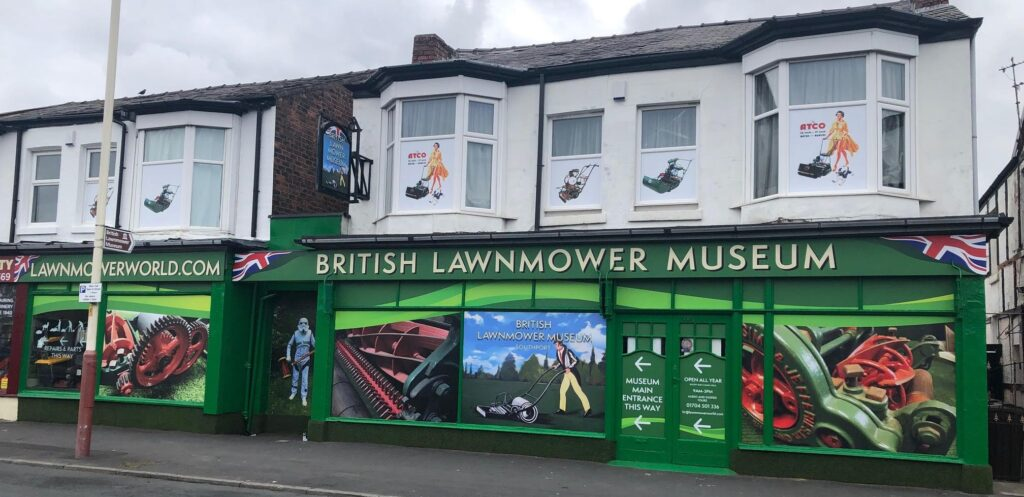 The British Lawnmower Museum on Shakespeare Street in Southport. Photo by Brian Radam