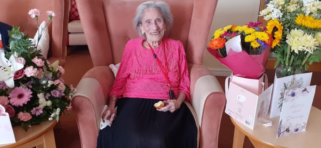 Clarice Tinlin from Southport has celebrated her 102nd birthday