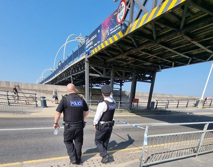 A lorry collided with Southport Pier in Southport