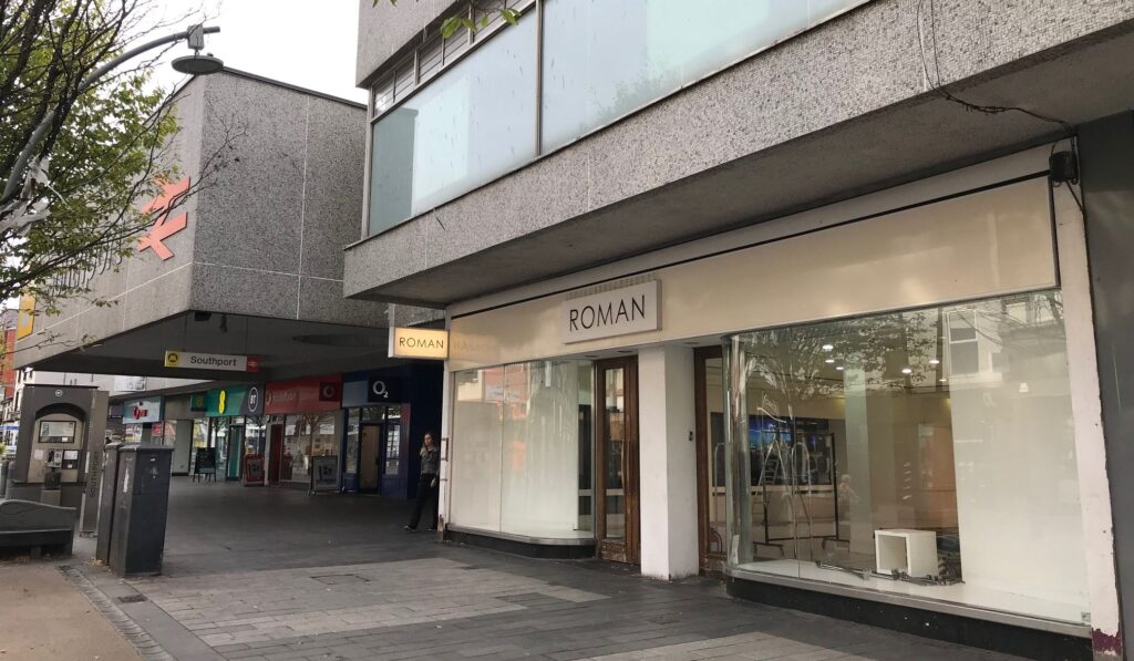 The former Roman shop on Chapel Street in Southport. Photo by Andrew Brown Media