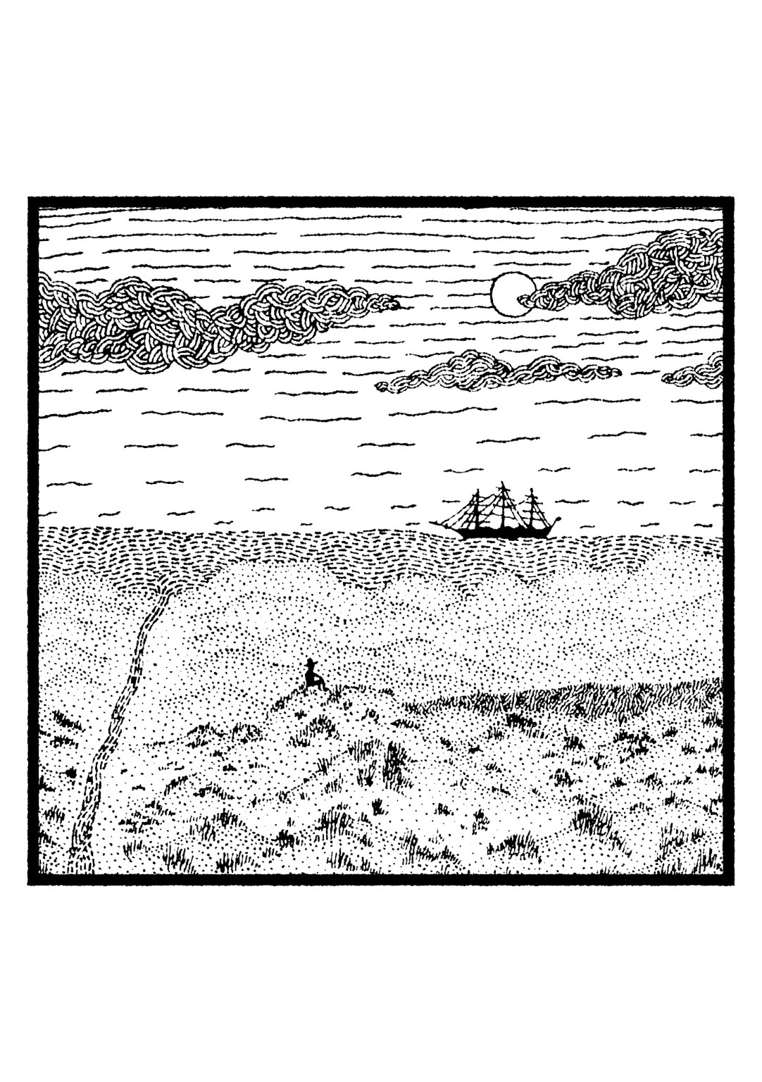 Sandy Tracks by David Walshe is a unique collection of local history themed poems and paired illustrations. Image copyright Michael Walshe