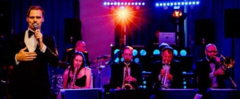Phil Shotton Swingshift Band performs Queenscourt fundraiser at Southport Little Theatre